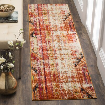 Crosier Orange Area Rug Rug Size: Runner 2'2