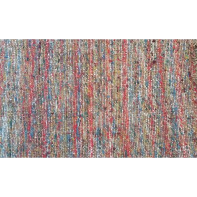 Luka Hand-Woven Red/Blue Area Rug Rug Size: 110 x 210