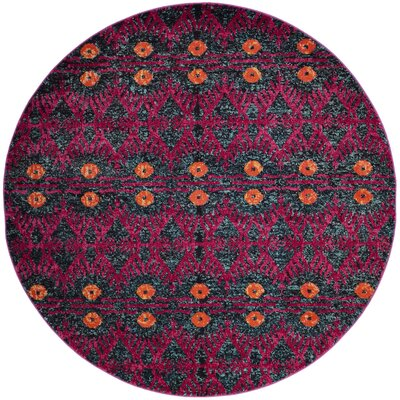Lafayette Pink Area Rug Rug Size: Round 67