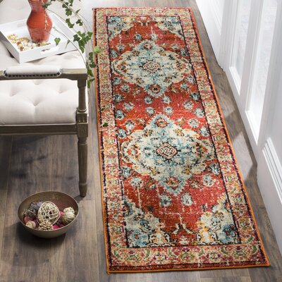 Newburyport Orange Area Rug Rug Size: Runner 22 x 6