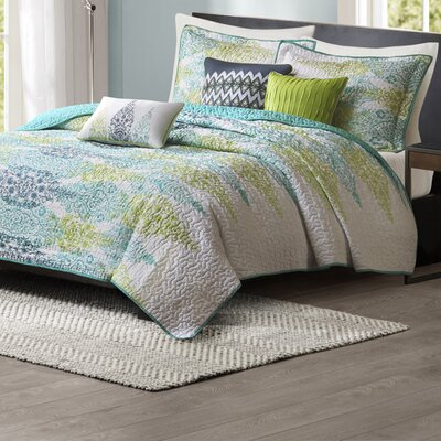 Conrad 6 Piece Quilt Set Size: King / California King, Color: Blue