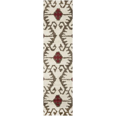 Kouerga Ivory Brown Area Rug Rug Size: Runner 23 x 9