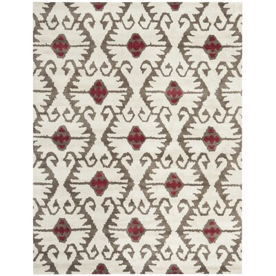 Kouerga Ivory Brown Area Rug Rug Size: Rectangle 89 x 12