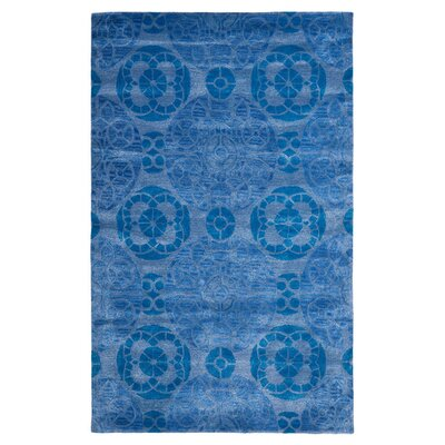 Kouerga Handmade Wool Blue Area Rug Rug Size: Rectangle 26 x 4