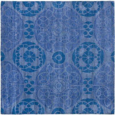 Kouerga Handmade Wool Blue Area Rug Rug Size: Square 5