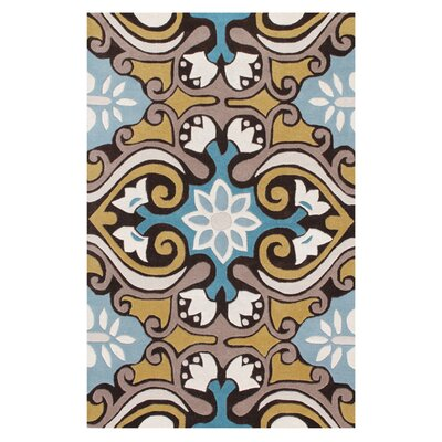 Kouerga Blue Area Rug Rug Size: Rectangle 89 x 12