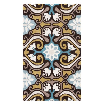 Kouerga Blue Area Rug Rug Size: Rectangle 3 x 5