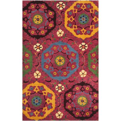 Kouerga Red Area Rug Rug Size: Rectangle 5 x 8