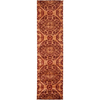 Kouerga Hand-Tufted/Hand-Hooked Rust/Orange Area Rug Rug Size: Runner 23 x 9