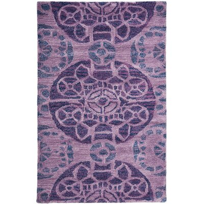 One-of-a-Kind Kouerga Hand-Tufted Wool Purple Area Rug Rug Size: Rectangle 2 x 3