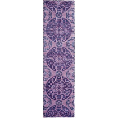 Kouerga Hand-Tufted Purple Area Rug Rug Size: Runner 23 x 13