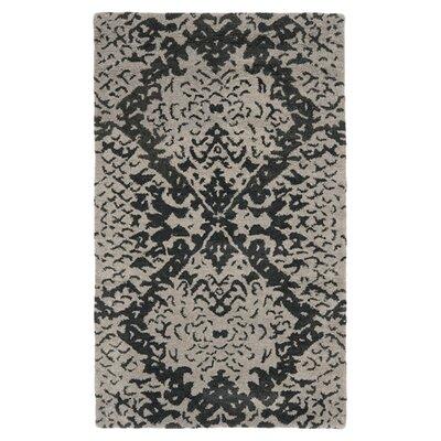 Kouerga Black/Gray Area Rug Rug Size: 4 x 6