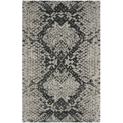 Kouerga Black/Gray Area Rug Rug Size: 2 x 3