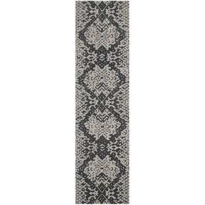 Kouerga Black/Gray Area Rug Rug Size: Runner 23 x 9