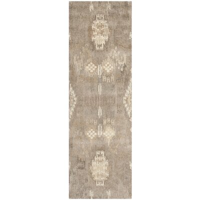 Kouerga Brown Area Rug Rug Size: Runner 23 x 9