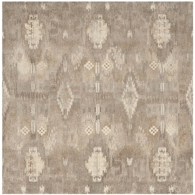 Kouerga Brown Area Rug Rug Size: Square 7