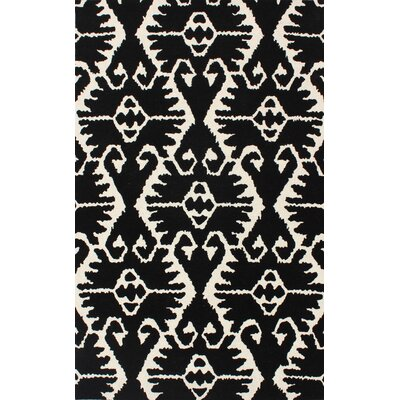 Kouerga Black & Ivory Area Rug Rug Size: Rectangle 5 x 8