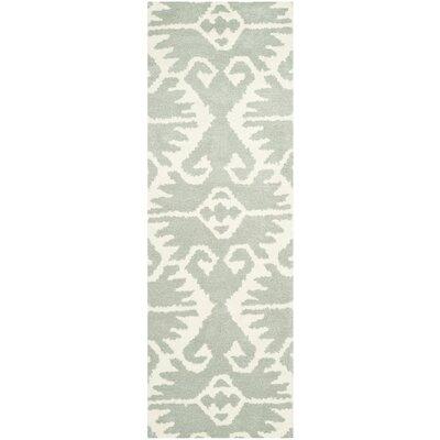 Kouerga Gray/Ivory Area Rug Rug Size: Runner 23 x 7