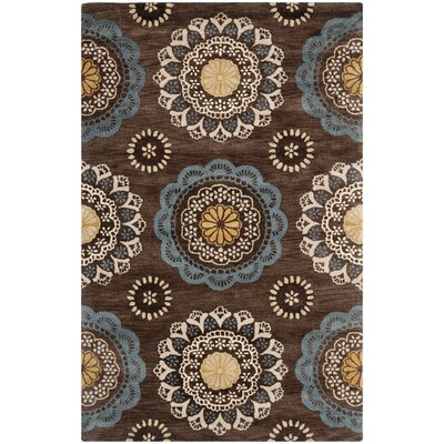 Kouerga Eggplant Brown Area Rug Rug Size: Rectangle 5 x 8