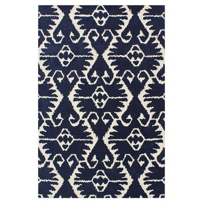 Kouerga Royal Blue/Ivory Rug Rug Size: Rectangle 3 x 5