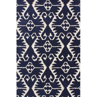 Kouerga Royal Blue/Ivory Rug Rug Size: 5 x 8
