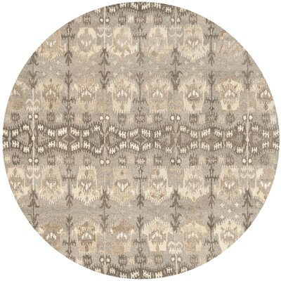 Carpenter Wool Brown Area Rug Rug Size: Round 7