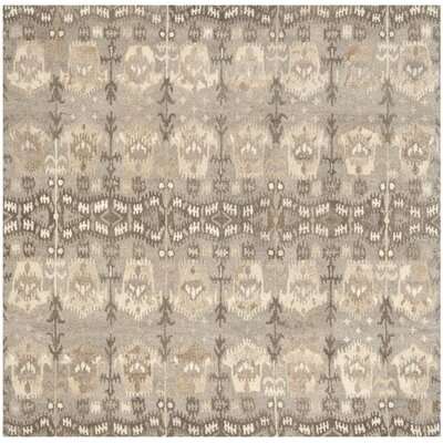 Carpenter Wool Brown Area Rug Rug Size: Square 7