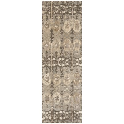 Carpenter Wool Brown Area Rug Rug Size: Runner 23 x 15