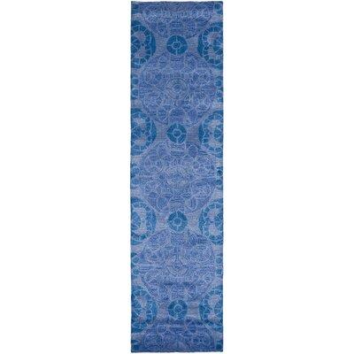 Kouerga Blue Rug Rug Size: Runner 23 x 9