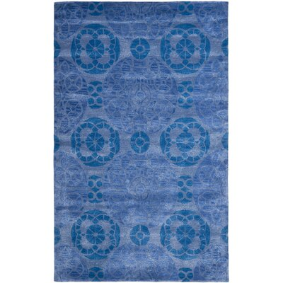 Kouerga Handmade Wool Blue Area Rug Rug Size: Rectangle 3 x 5