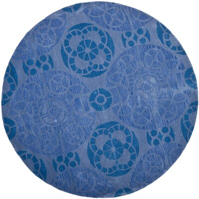 Kouerga Blue Rug Rug Size: Round 7