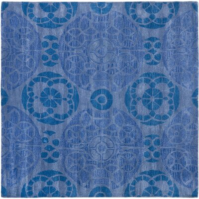 Kouerga Handmade Wool Blue Area Rug Rug Size: Square 7