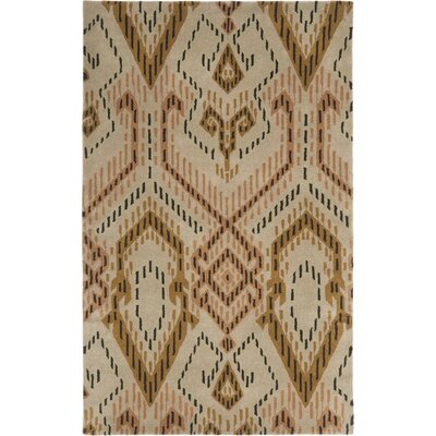 Kouerga Brown / Ivory Rug Rug Size: Rectangle 5 x 8