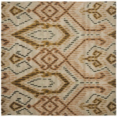 Kouerga Brown / Ivory Rug Rug Size: Square 7