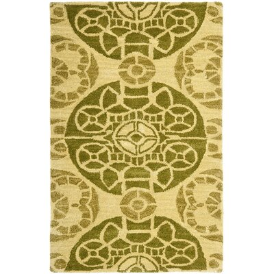 Kouerga Hand-Tufted Yellow Area Rug Rug Size: Rectangle 26 x 4