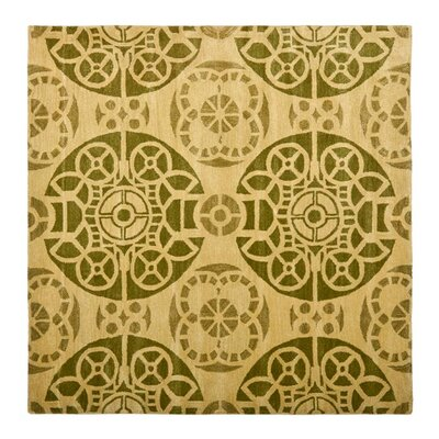 Kouerga Honey / Green Rug Rug Size: Square 7