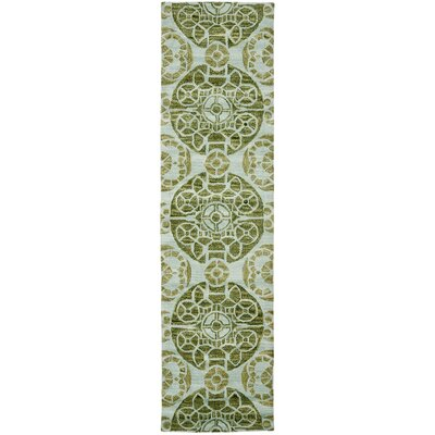 Kouerga Hand-Tufted Turquoise Area Rug Rug Size: Rectangle 5 x 8