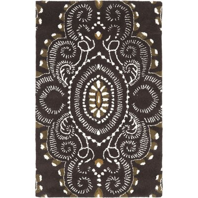 Kouerga Brown / Ivory Rug Rug Size: Rectangle 8 x 10