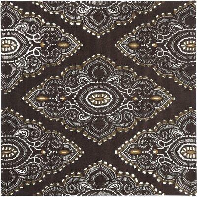 Kouerga Brown / Ivory Rug Rug Size: Square 7'