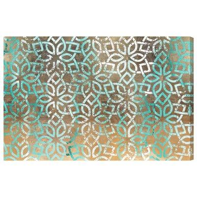 'Regal Jade Lattice' Graphic Art Print on Canvas Size: 10