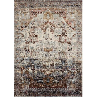 Potter Ivory/Brown Area Rug Rug Size: Rectangle 53 x 78