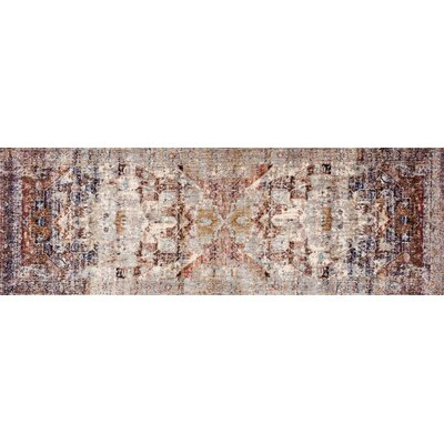 Potter Ivory/Brown Area Rug Rug Size: Runner 27 x 12