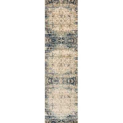 Potter Beige/Blue Area Rug Rug Size: Runner 27 x 8