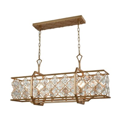 Elishia Crystal 6-Light Kitchen Island Pendant