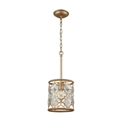 Elishia 1-Light Mini Pendant Finish: Matte Gold/Clear