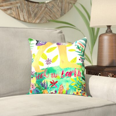 Mia Charro Feel the Earth 2 Throw Pillow Size: 20 H x 20 W x 2 D