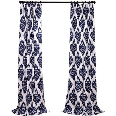 Atkins Printed Cotton Tab top Single Curtain Panel