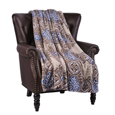 Loganne Microfiber Flannel Blanket Color: Moonlight Blue