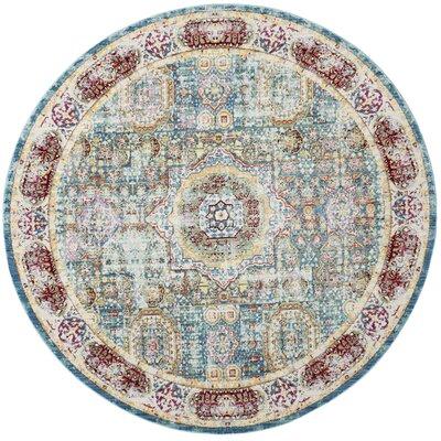 Doline Oriental Area Rug Rug Size: Round 67