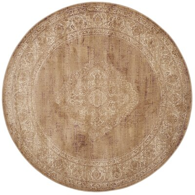 Todd Taupe Outdoor Rug Rug Size: Round 6